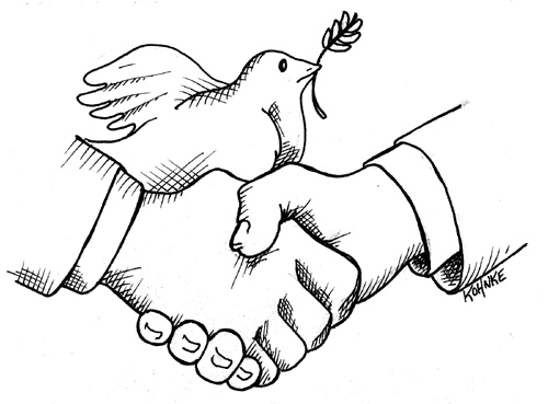 handshake for peace